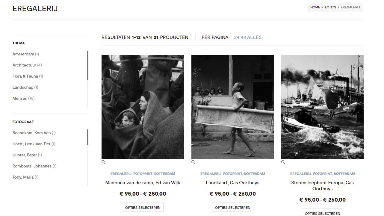 Eregalerij Thuis Nederlands Fotomuseum
